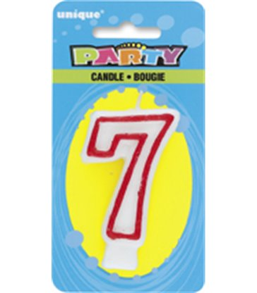 DELUXE NUMERL BIRTHDAY CANDLE 7