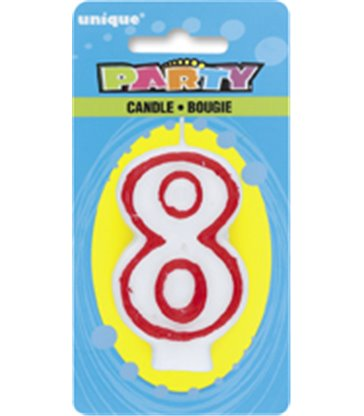 DELUXE NUMERL BIRTHDAY CANDLE 8