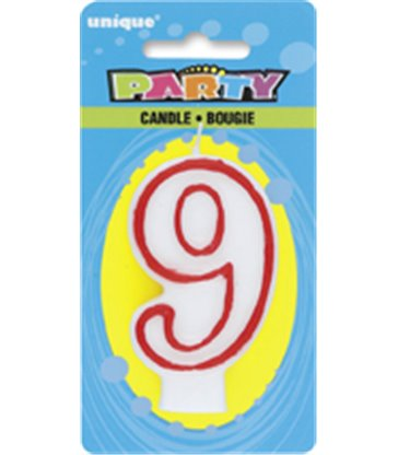 DELUXE NUMERL BIRTHDAY CANDLE 9