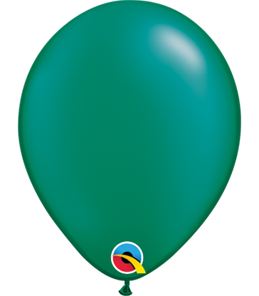 "Pearl Emerald Green Pack of 100 5"" latex balloons"