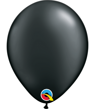 "Pearl Black Pack of 100 5"" latex balloons"