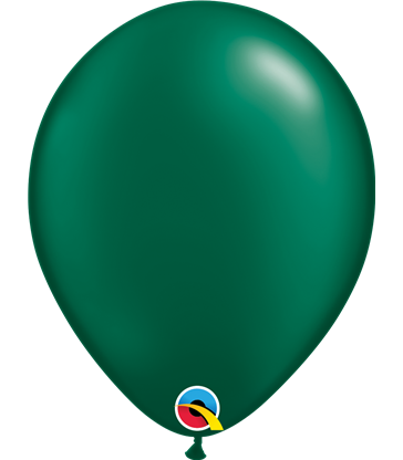 "Pearl Forest Green Pack of 100 11"" latex balloons"
