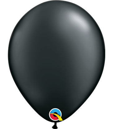 "Pearl Black Pack of 100 11"" latex balloons"