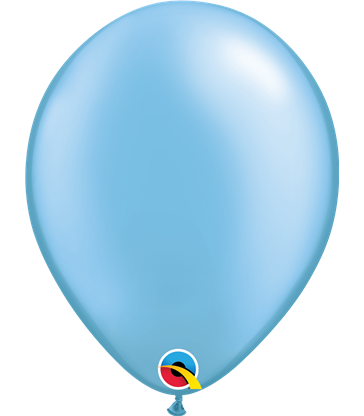 "Pearl Azure Pack of 100 11"" latex balloons"