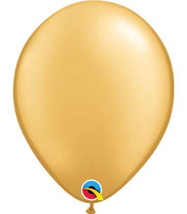 "Pearl Gold Pack of 100 11"" latex balloons"