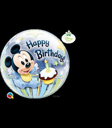 "Disney Mickey Mouse 1st Birthday 22"" balloon"
