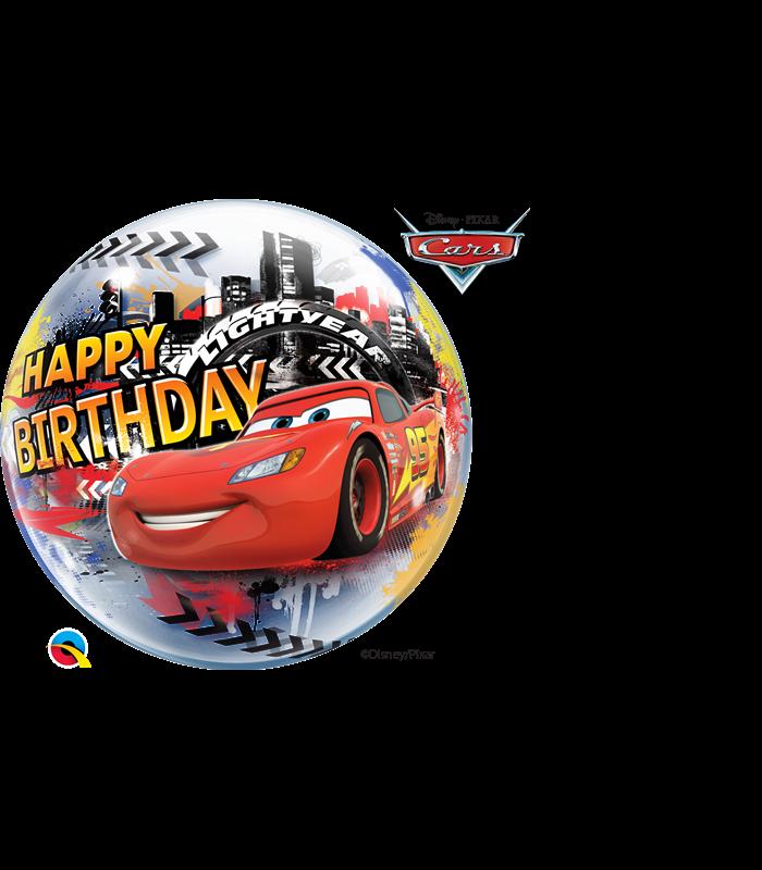 "Disney/Pixar Lightening McQueen & Mater Birthday 22"" balloon"