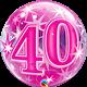 "40 Pink Starburst Sparkle 22"" balloon"