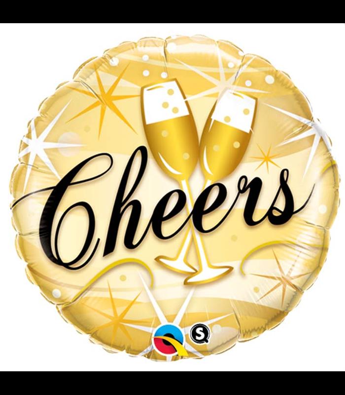 """Cheers Starbust 18"""" balloon"""