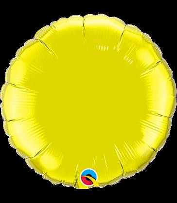 "Citrine Yellow Round 18"" balloon"