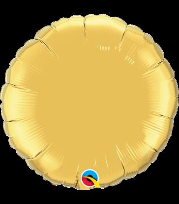 "Gold Round 18"" balloon"