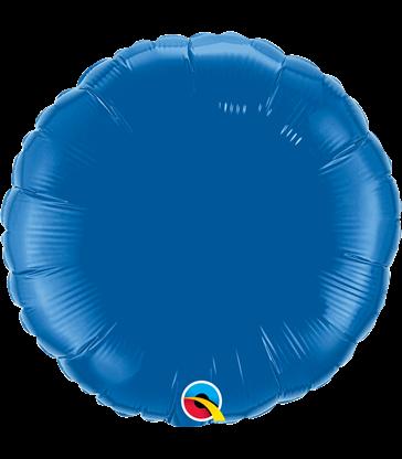 """Dark Blue Round 18"""" balloon"""