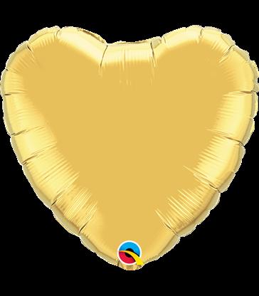 "Gold Heart 18"" balloon"
