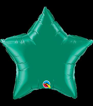 """Emerald Green Star 20"""" balloon"""