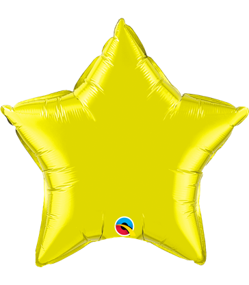 "Citrine Yellow Star 20"" balloon"