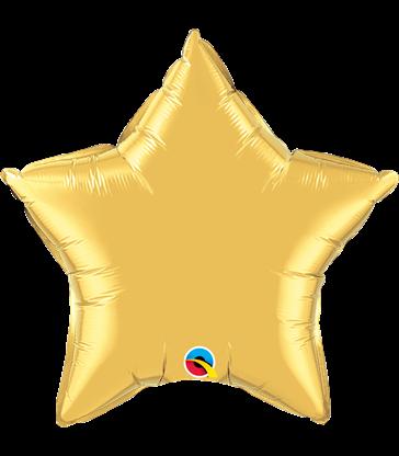 "Gold Star 20"" balloon"