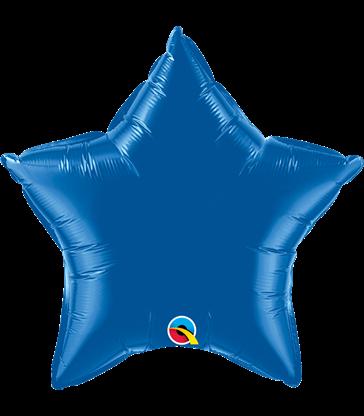 """Dark Blue Star 20"""" balloon"""