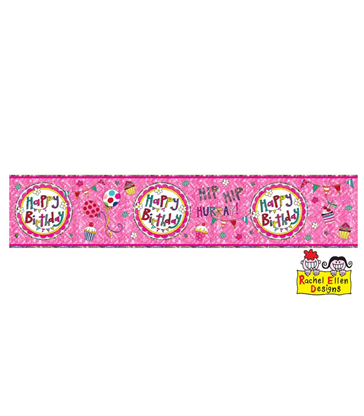 Rachel Ellen - Happy Birthday Perfect Pink Banner