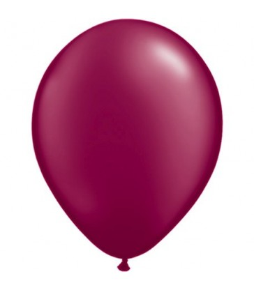 "Pearl Burgundy Pack of 100 11"" latex balloons"