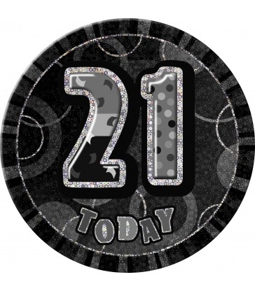 BLACK GLITZ 6'' BADGE- 21