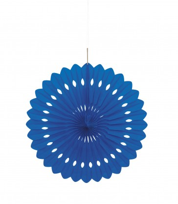 "DECORATIVE FAN 16"" ROYAL BLUE"