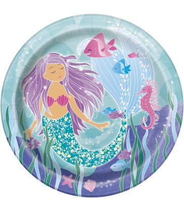 "8 MERMAID SWIM 9"" PLATES"