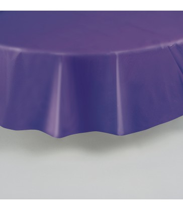 DEEP PURPLE ROUND TABLECOVER 84 DIA