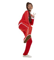 Sporty Power Costume, Red & White