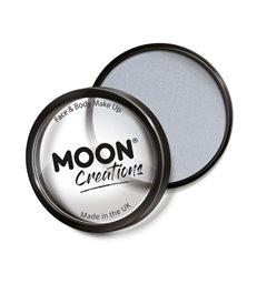 Moon Creations Pro Face Paint Cake Pot, Light Grey