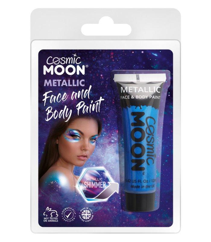 Cosmic Moon Matallic Face & Body Paint, Blue