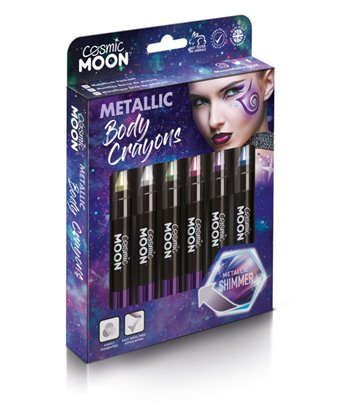 Cosmic Moon Metallic Body Crayons, Assorted