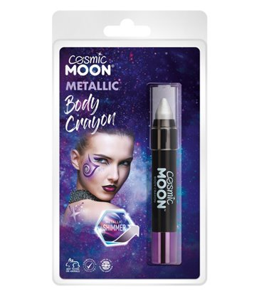 Cosmic Moon Metallic Body Crayons, Silver