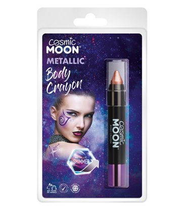 Cosmic Moon Metallic Body Crayons, Rose Gold