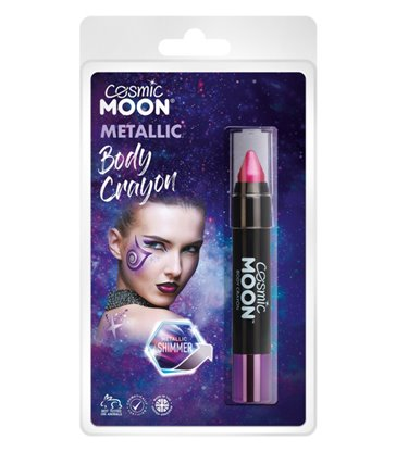 Cosmic Moon Metallic Body Crayons, Pink