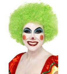 Crazy Clown Wig, Green