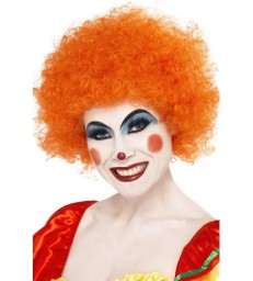 Crazy Clown Wig, Orange