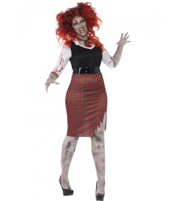 Curves Zombie School Girl Costume