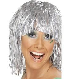 Cyber Tinsel Wig, Silver