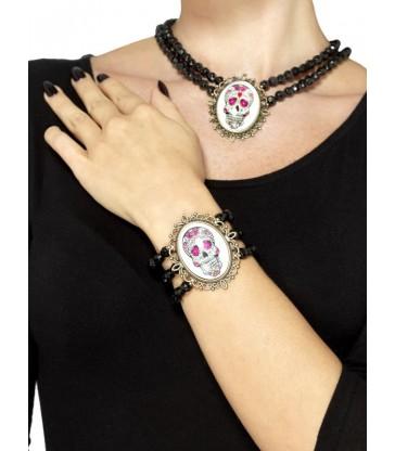 Day of the Dead Beaded Bracelet