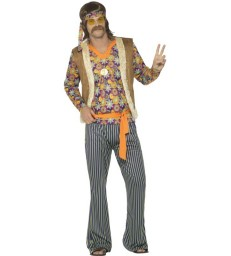 60s Singer Costume, Male, Multi-Coloured