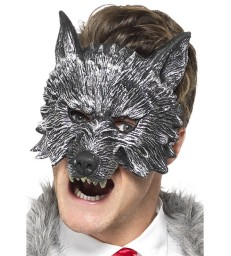 Deluxe Big Bad Wolf Mask, Grey