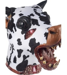 Deluxe Butchered Daisy The Cow Head Prop, Black &