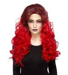 Deluxe Devil Glamour Wig, Red