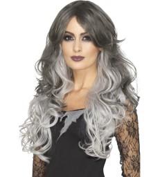 Deluxe Gothic Bride Wig, Grey