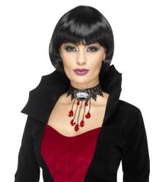 Deluxe Gothic Vamp Choker, Black