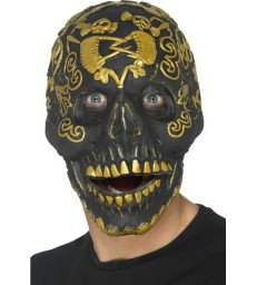 Deluxe Masquerade Skull Mask, Gold