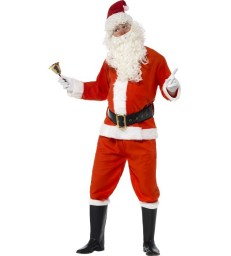 Deluxe Santa Costume, Red