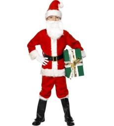 Deluxe Santa Costume & Beard, Red